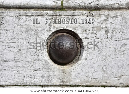 Old Cannonball against White Stock photo © Balefire9