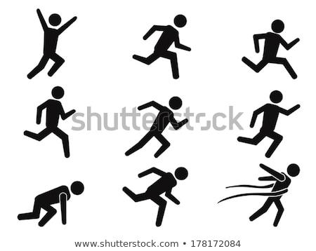 ランナー セット 孤立した 白 芸術 ストックフォト © cteconsulting