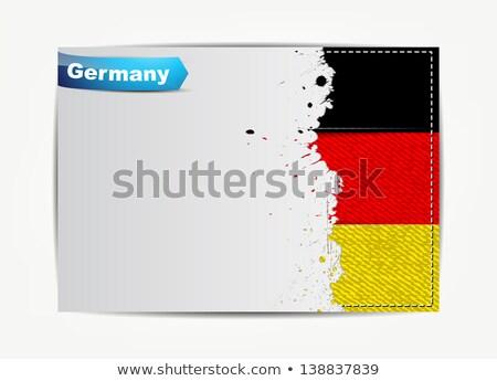 Stitched Germany flag with grunge paper frame Stock photo © maxmitzu