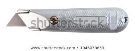 Odizolowany użyteczność nóż szary uchwyt biały Zdjęcia stock © TeamC