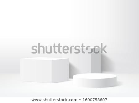 Beyaz podyum örnek boş fotoğraf tanıtım Stok fotoğraf © obradart