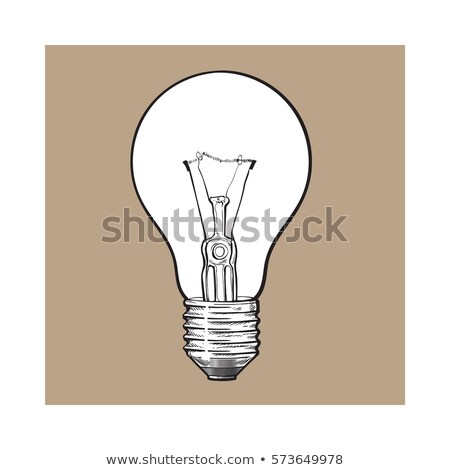 Side view of clear tungsten light bulb. Stock photo © snyfer