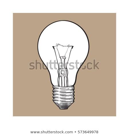 Yandan görünüş tungsten ampul yalıtılmış beyaz ışık Stok fotoğraf © snyfer