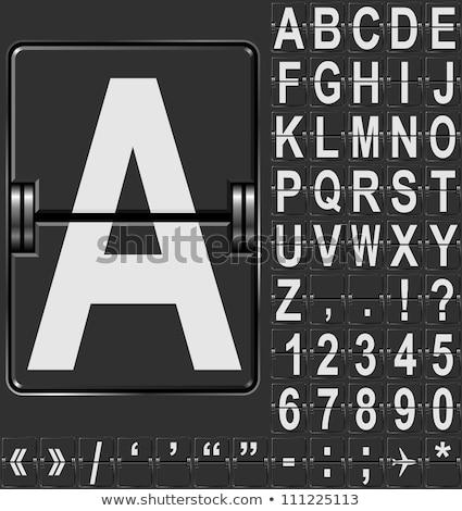 gépi · eredményjelző · ábécé · vektor · nagy · szett - stock fotó © leedsn