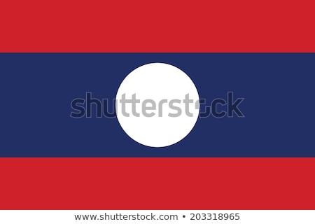 Vlag Laos kaart land kaarten knop Stockfoto © Ustofre9