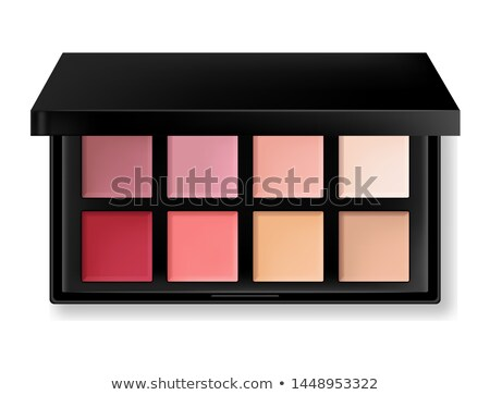 Maquillage palette cosmétiques lumineuses couleurs Photo stock © tannjuska
