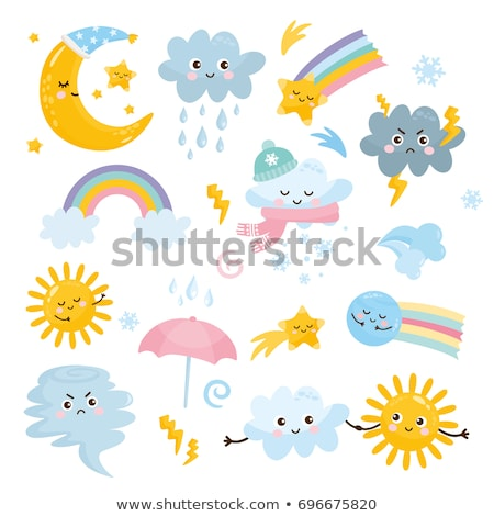 Cute cartoon weather icons Stock photo © kariiika