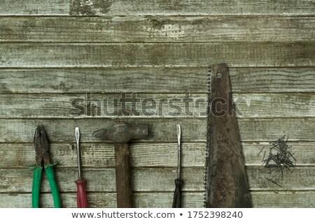 rouillée · vu · lame · noir · dents · rouille - photo stock © lunamarina