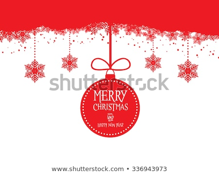 Christmas Background With Baubles Eps 10 Stockfoto © Kjpargeter