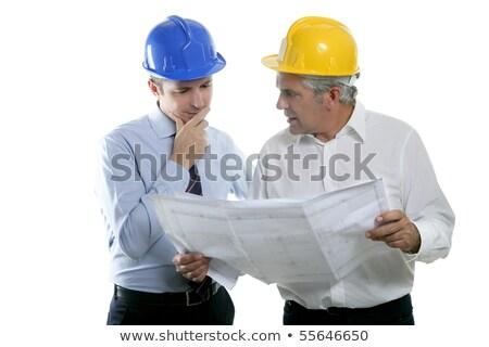 engineer architect two expertise team industry stock photo © lunamarina