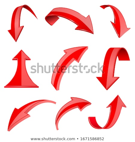 3D red arrow Stock photo © ArenaCreative