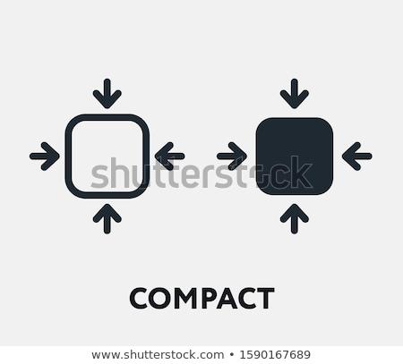 Compact cosmetische icon spons Stockfoto © zzve