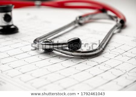 聴診器 · 中心 · モニター · 青 · ペン · 表 - ストックフォト © taden