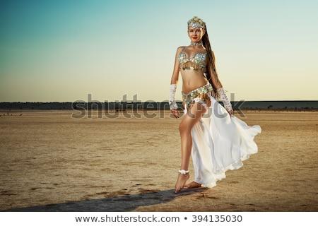 barriga · dançarina · belo · exótico · mulher · dançar - foto stock © stepstock