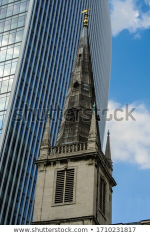 All Hallows by the Tower Church and the Walkie Talkie Builing in Stock photo © chrisdorney
