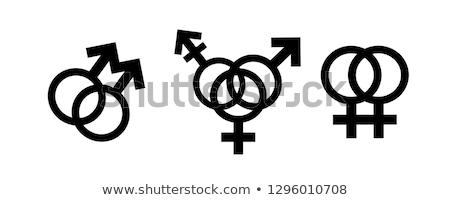 Leszbikus ikon lányok szerelmespár Stock fotó © Myvector