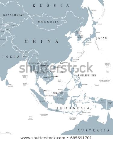 север · Южная · Корея · политический · карта · Сеул · полуостров - Сток-фото © volina