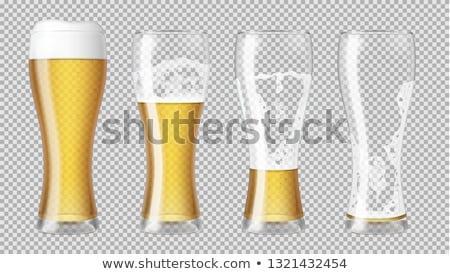 Empty beer glass Stock photo © karandaev