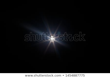 Shining sun with lens flare. Soft background with bokeh effect.  Stock photo © alevtina