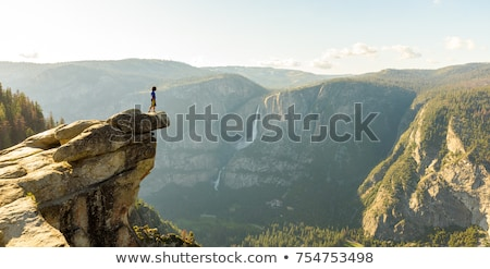 yosemite el capitan and half dome in california stock photo © lunamarina