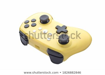 ретро игровой контроллер джойстик изолированный белый компьютер Сток-фото © shutswis