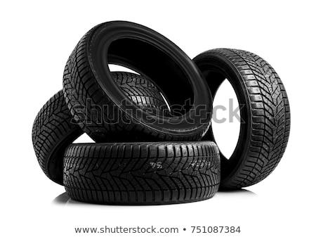 új autómobil autógumik közelkép fekete fény Stock fotó © lightkeeper