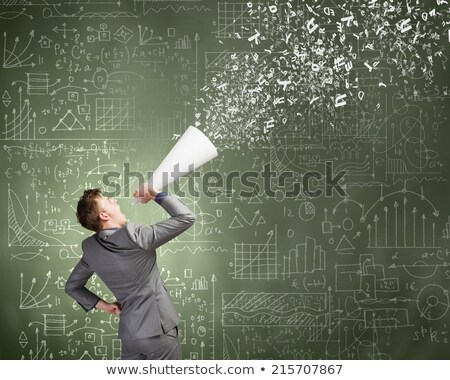 Businessman holding up a chalkboard Stock photo © photography33