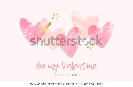 valentine · cartão · feliz · dia · dos · namorados · letra · fonte - foto stock © tanya_ivanchuk