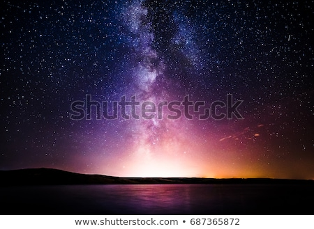 Leitoso maneira galáxia java Indonésia pôr do sol Foto stock © lukchai