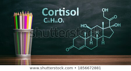 chemical formula of cortisol on a blackboard stock photo © zerbor