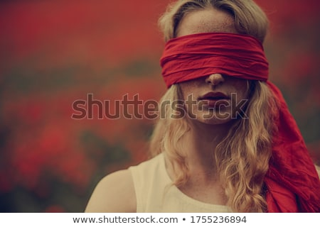 girl with blindfold stock photo © iko
