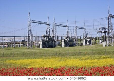 電気 トランス 駅 美しい 風景 空 ストックフォト © meinzahn