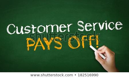 Customer service pays off Chalk Illustration Stock photo © kbuntu