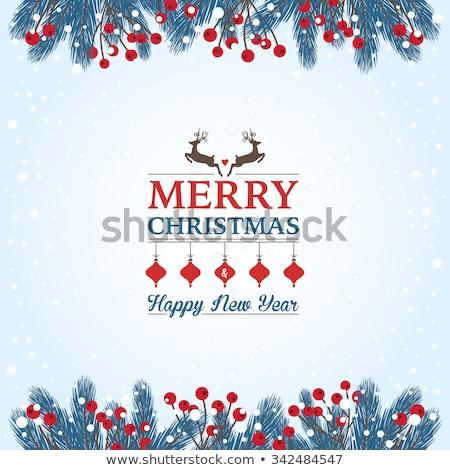 klasszikus · karácsonyi · üdvözlet · díszes · elegáns · retro · absztrakt - stock fotó © elmiko