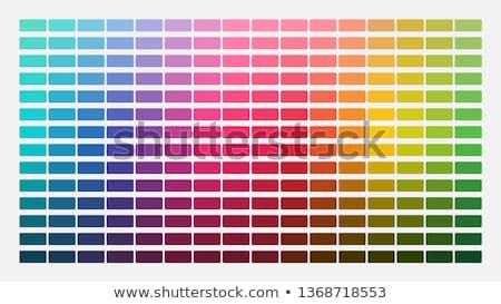 cor · paleta · isolado · branco · papel · livro - foto stock © elenapro