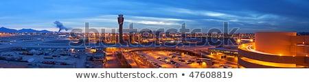 airplane flying into phoenix airport stock photo © epstock