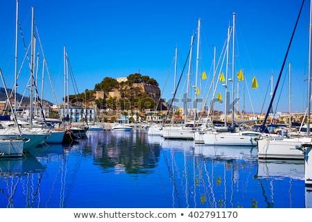 Kikötő marina Spanyolország tengerpart égbolt víz Stock fotó © lunamarina