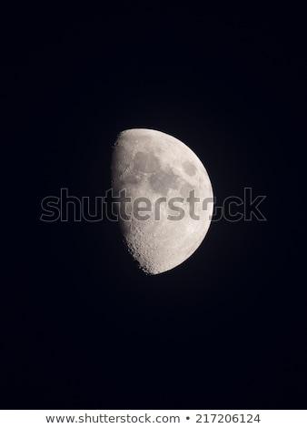 Goede geluk groene halo maan hemel Stockfoto © shihina