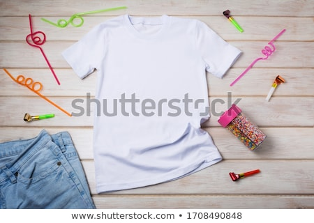 T Shirt Template  Party Photo stock © TasiPas