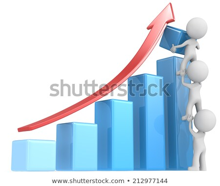 3d small people   teamwork and profit stock photo © anatolym