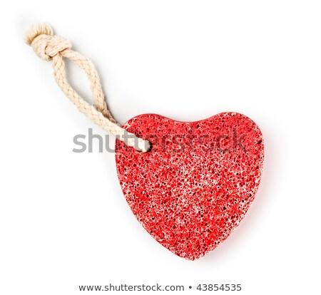 черный · камней · сердце · изолированный · белый · любви - Сток-фото © petrmalyshev