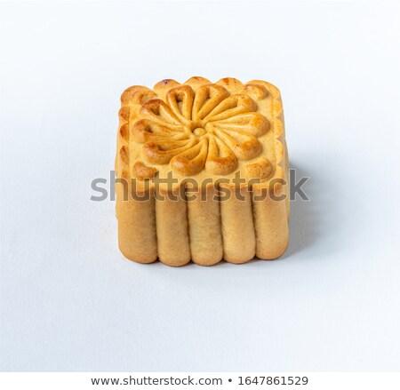 hold · torta · fehér · étel · háttér · ázsiai - stock fotó © leungchopan