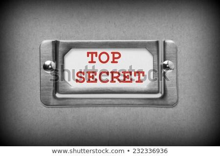 cajón · etiqueta · confidencial · negocios · metal - foto stock © tashatuvango
