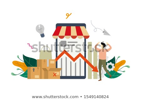 Umsatz Business Krise Gruppe Einkaufstaschen ein Stock foto © Lightsource