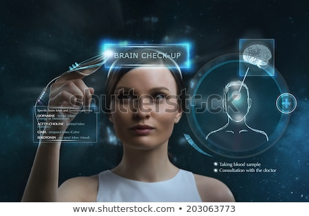 doctor doing brain checkup stock photo © hasloo