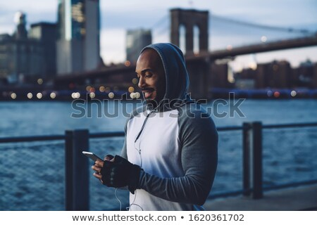 jogger resting stock photo © hasloo