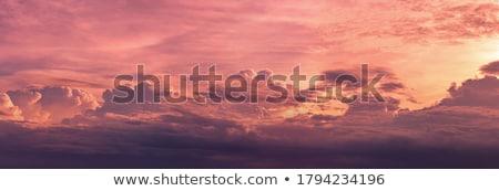 Photo stock: Sombre · nuages · sunrise · ciel · soleil