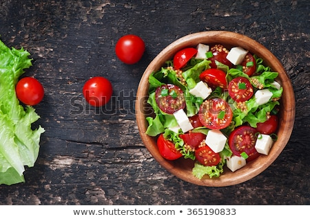 トマト サラダ アレンジメント 新鮮な オリーブ 菜 ストックフォト © zhekos