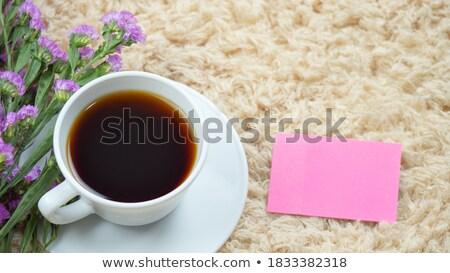 Mooie warme drank mok schrijfpapier voorraad foto Stockfoto © nalinratphi