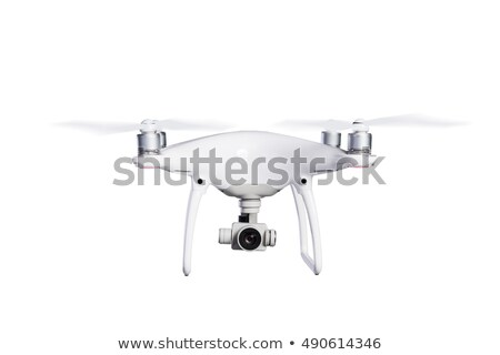 flying quadrocopter with video camera stock photo © amok